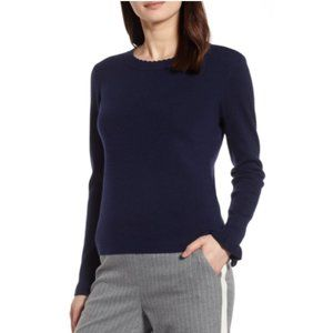 Halogen Black Scallop Trim Sweater